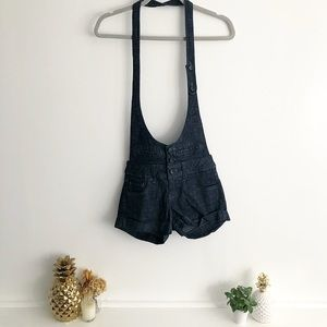 Halter Overall Shorts